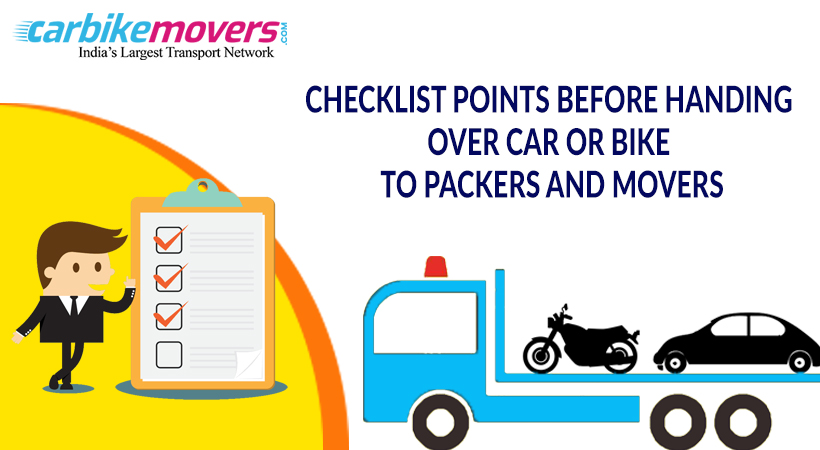 Six Checklist Before Handing Over Your Car and Bike to Packers Movers in Pune